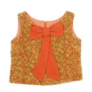VTG Boucle Bow Embellished Sleeveless Top